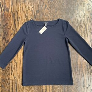 "NWT Ann Taylor Ribbed Knit Top (3/4"" Sleeves)"